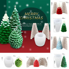 3D Christmas Tree Silicone Cake Chocolate Baking Mould Candle Making Mold DIY