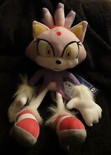 "Sega Official GE Sonic The Hedgehog 12"" Plush toy figure Blaze The Cat NWT"