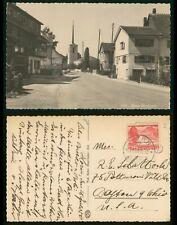 Mayfairstamps Switzerland 1958 Horn Street Scene Real Photo Postcard to US wwr78