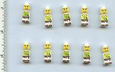 LEGO x 10 Microfig Magma Monster White NEW