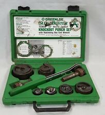 Greenlee SluggBuster 7238SB Knockout Punch Set w/ Conduits and Ratcheting Wrench