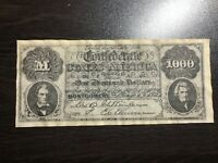 1864 $1000 ONE THOUSAND Dollars Confederate States of America Currency COPY