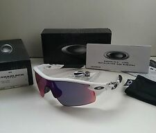 New OAKLEY RADARLOCK Pitch WHITE TEXT / POSITIVE Red Iridium Sunglasses radar ev