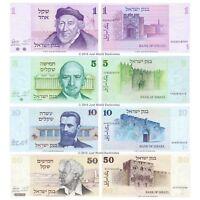 2014-2017 Israel Set 4 PCS 20 50 100 200 new Shekels UNC