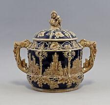 8345108 Keramik Bowle Westerwald Wickwerke Burgen-Motive im Relief Historismus