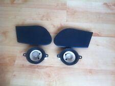Saab 900 9-3 Front Dashboard Speakers Pair + Speaker Covers Pair