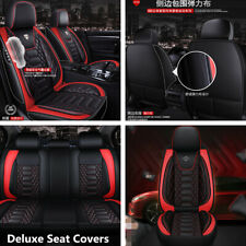 Deluxe 5-Seats Car Seat Covers Front+Rear PU Leather For Interior Accessories