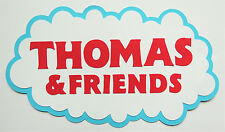 Thomas The Train Title Paper Die Cut Paper Scrapbook Embellishment