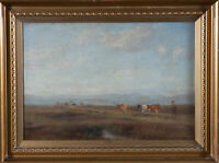 Ebenezer Hanson - Signed & Framed Early 20th Century Oil, Highland Winds