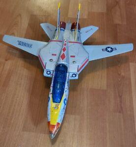 F-14A NAVY PLANE 303NL TOMCAT SWING WING VINTAGE TIN AIRPLANE SA-151 SON AI TOYS
