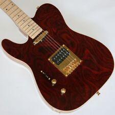 Linkshänder E-Gitarre,Telematik, Wurzelholz, Humbucker, Gold Hardware, G65