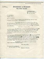 """Vintage Radio Crystals Re: 1930 Letterhead - """"Piezo Electric Specialists"""""""