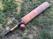 "Antique 1890s Vtg 33.5"" Lillywhite Cricket Bat Borough London Club Practice Ball"