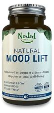 Nested Natural Mood Lift Anti-Stress 60 Vegan Capsules w/ 5-HTP 60 day  S