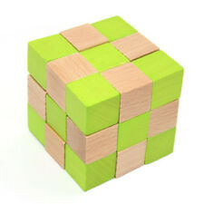 Wood Snake Cube Puzzle Brain Teaser Toy Games for Adults / Kids B7F8