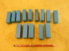 13 pc LOT of BLUE NYLON FLAT STOCK machinable plastic bar 11/16