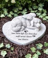 Paw Prints Pet Dog Memorial Cemetery Grave Marker Tomb Stone Statue Garden