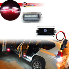 2X For Toyota Prius/Avalon/Camry White+Red LED Side Door Courtesy Welcome Lights