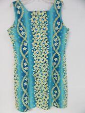 Royal Creations Hawaiian Dress Size 2XL Zipper Back Tank Top Hibiscus Flower