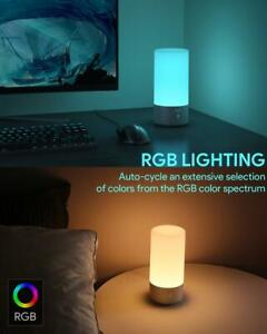 New AUKEY LT-T6 Ambient Light Touch Sensor Color Changing RGB Table Lamp 6W Gray