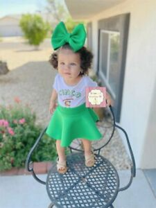 Puff green bow and skirt/mexico/cinco de mayo