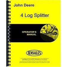 John Deere 4 Log Splitter Owners Operators Manual