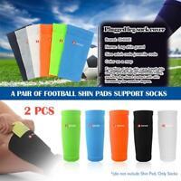 Pair Soccer Protective Socks With Pocket Football Shin Pads Sleeves Shin Guard