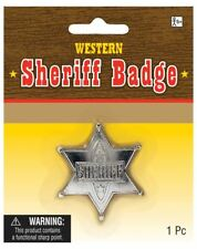 Wild West Sheriff Badge Star Cowboy Western Rodeo Cowgirl accessoire robe fantaisie