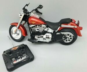 Harley Davidson Red Fat Boy Remote Control Motorcycle with remote, no charger