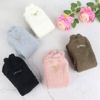 Women Cartoon Thicken Winter Warm Fleece Cotton Socks Fluffy Casual Floor Socks