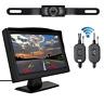 "Wireless 5"" Monitor Car Rear View System Backup Reverse Camera Night Vision Kit"