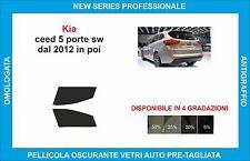 pellicole oscuranti vetri kia ceed sw dal 2012 kit anteriore