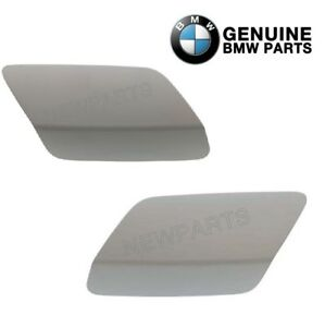 For BMW E92 Pair Set Of 2 Cover Flap Headlight Washers on Bumper Cover Primered