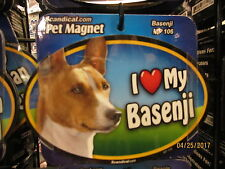 I Love My Basenji 6 inch oval magnet for car or anything metal New