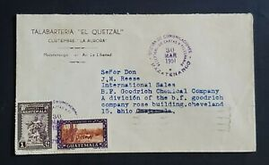 1951 Mazatenango Guatemala BF Goodrich Chemical Company Advertising Cover