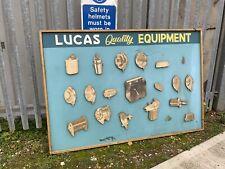 More details for rare mid century lucas advertising board garage/ automobilia