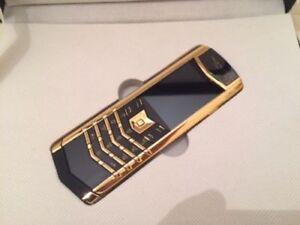Vertu K7 Signature Design - Golden/Black (Unlocked) Cellular Phone