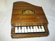 Vintage Antique Wood 10 Key Baby Grand Piano Toy - Japan - in Original Box