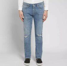 Acne Studios Blå Konst Max Mid Ripped Slim Fit Jeans 36x34 Brand New