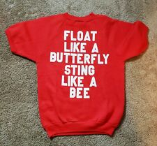 1970s - Vintage Womens Shirt Float Like A Butterfly Sting Like Bee Muhammad Ali