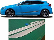 Volvo V40 R Design Side Stripes Graphics Decals Stickers any colour