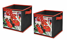 Toy Box Disney Cars 2 Storage Cubes 10 Inches Ages 3+ Play Lightning Mcqueen Fun