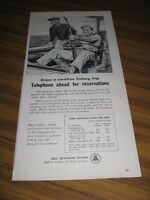 1957 Print Ad Bell Telephone System Men Deep Sea Fishing on Boat