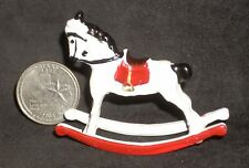 Dollhouse Miniature Metal Children Rocking Horse 1:12 Vintage Nursery Christmas