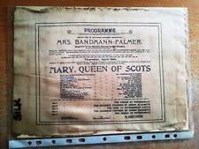 More details for silk theatre programme - late 1800's