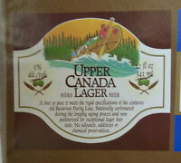 VINTAGE CANADIAN BEER LABEL - UPPER CANADA BREWERY, UPPER CANADA LAGER 12 FL OZ