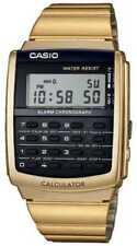 Relojes de pulsera de acero inoxidable dorado de acero inoxidable dorado de alarma