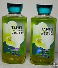 2 Bath & Body Works TAHITI ISLAND DREAM  SHEA VITAMIN E Shower Gel body NEW