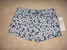 NWT $34.50 GUESS Kids Shorts, Girls Printed Denim Shorts - size 14