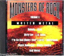 Monsters of Rock Volume 3 Molten Metal Kiss L.A Guns Motorhead Greatest 90s